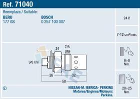 Fae 71040 - CALENT.12V ANTORCHA CAV