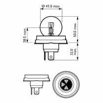 Hella 8GD002088913 - LAMP.12/45/40W FEU