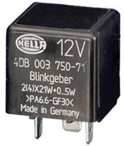 Hella 4DB003750651 - REL INTERM.12V.4 TERM.200W.