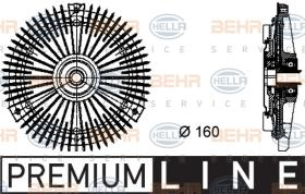 Hella 8MV376732251 - EMBR.VISCO BMW 3(E30)/5/Z1