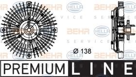 Hella 8MV376732221 - EMBR.VISCO BMW 3 (E36) / 5 / 7/