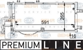 Hella 8FC351300611 - CONDEN.AUDI A4/PASSAT