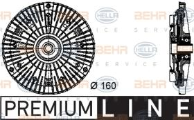 Hella 8MV376732061 - EMBR.VISCO BMW S5.S3 (E39)(E46)