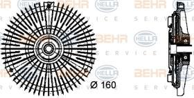 Hella 8MV376732451 - EMBR.VISCO BMW 3(E36)/5/7 REFRI
