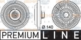 Hella 8MV376757321 - EMBRAGUE VISCO + HELICE LAND ROVER