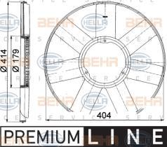 Hella 8MV376757481 - HELICE BMW E38/E39/E46/E53/E65