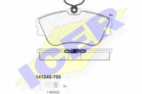 Icer 141049700 - J.PAST.DEL.CITR/FIAT/LANCIA/PEUG.