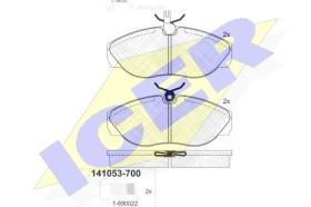 Icer 141053700 - J.PAST.DEL.CHEVR/VW