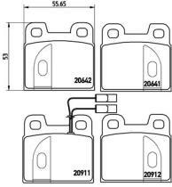 Pagid T4158 - J.PAST.DEL.SEAT/VW WVA 20889