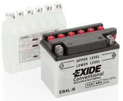 EXIDE CB4LB - BATERIA 12/28A +DCH 184X124X160
