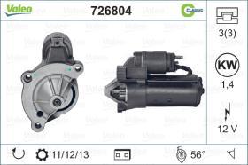 Valeo 726804 - ARR.12V 9D REN. CLASSIC(3813,FINO)