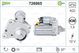 Valeo 726865 - ARR.12V 9D 2,0 KW AUDI/VW